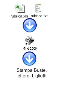 rubrica excel stampa buste lettere