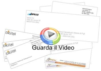 software stampa buste lettere badge biglietti mind